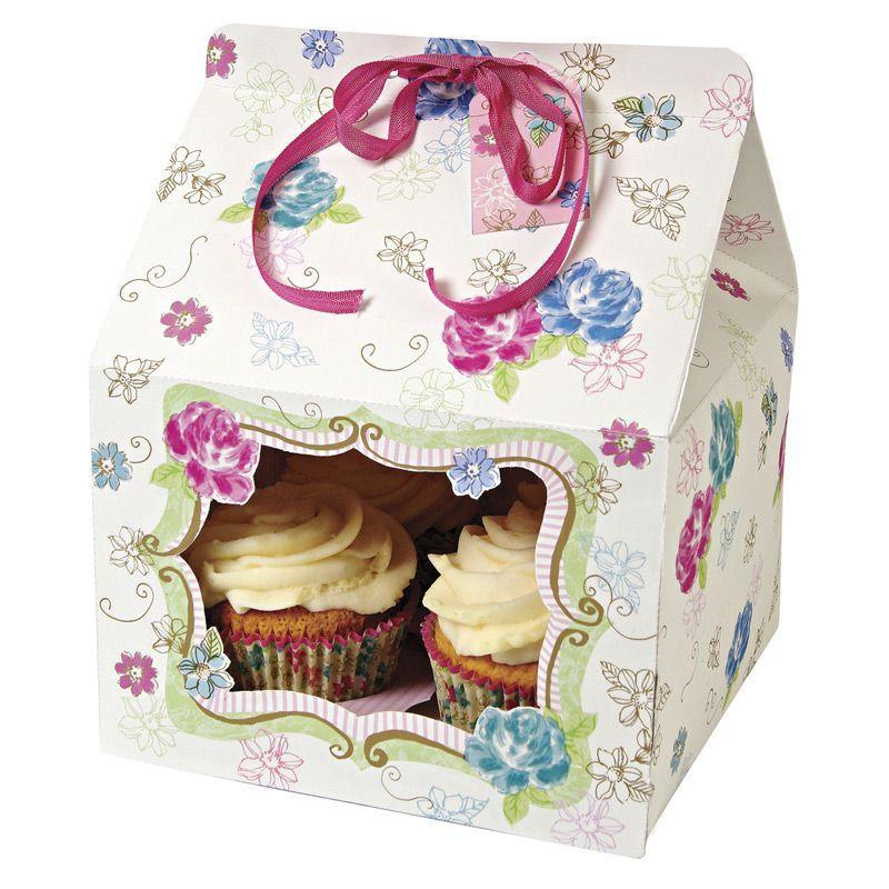 Cajas pack 4 cajas cupcakes para 4 cupcakes Amor al Atardecer