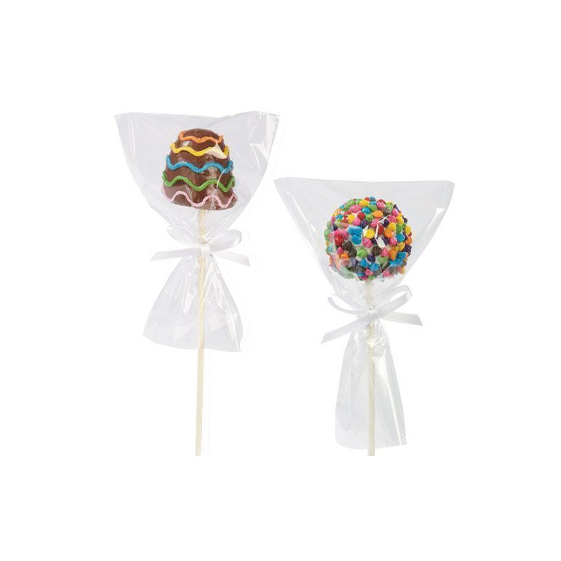 Bolsas para cakepops + cintas 12 unidades Wilton