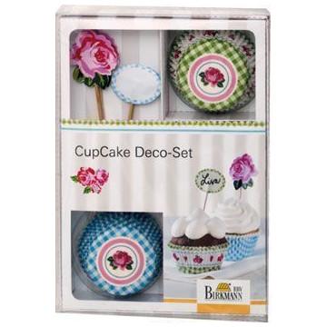 Set cupcakes Deco Rose Birkmann