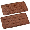 Molde silicona Tabletitas Formas Chocolate Birkmann