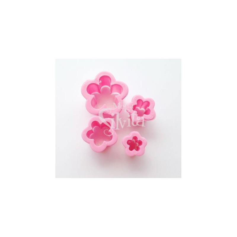 Cortante pack 4 cortantes Flores Cinco Pétalos Parpem