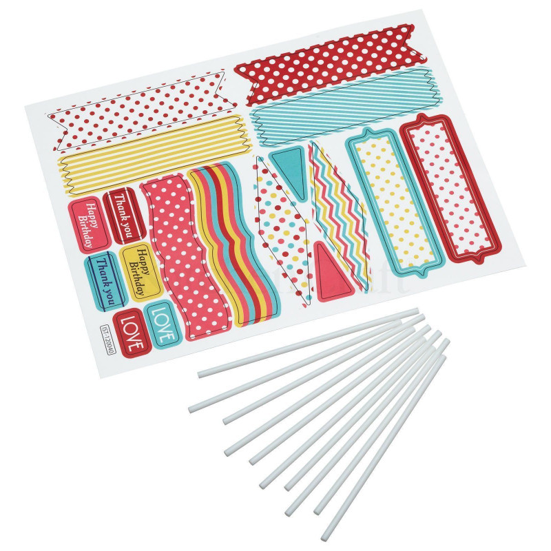 Pack de 20 piezas Pegatinas, Toppers para Cupcakes Sweet Does It
