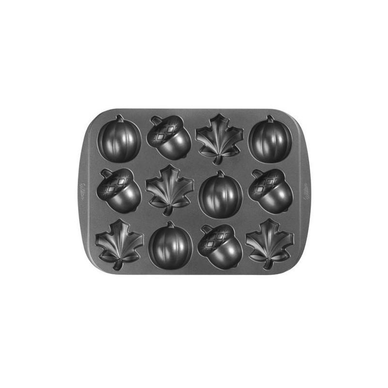 Molde mini bizcochos Otoño 12 cavidades Wilton