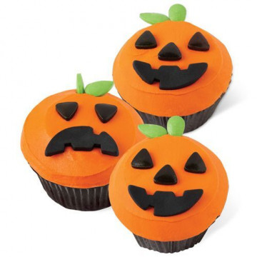 Set decoración para cupcakes: Jack-O-Laterm Halloween Wilton