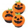 Set decoración para cupcakes: Jack-O-Laterm Halloween Wilton