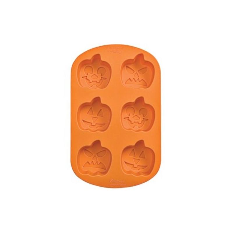 Molde silicona 6 cavidades Calabazas Halloween Wilton