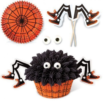 Set para cupcakes: Araña Halloween Wilton