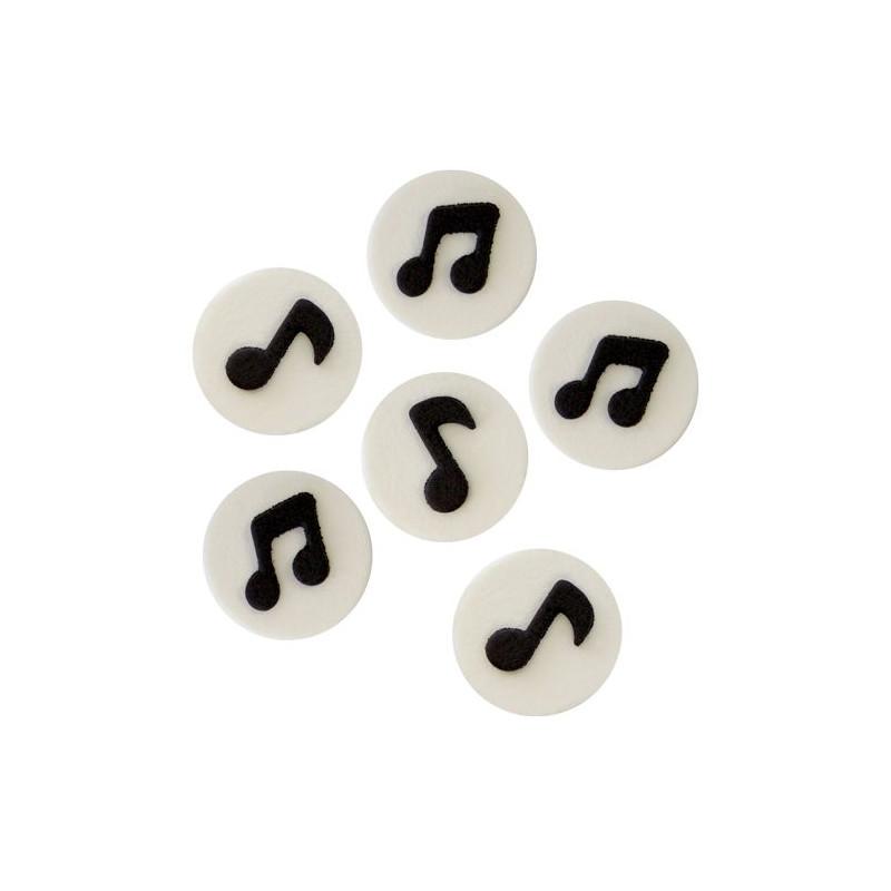 Decoraciones Comestibles Notas Musicales Pme