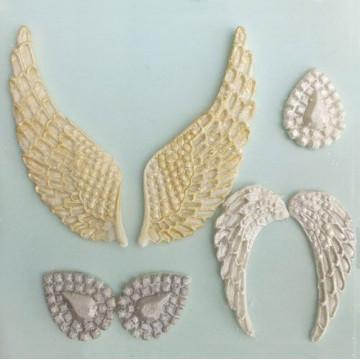 Molde silicona de Alas de Angel Karen Davies