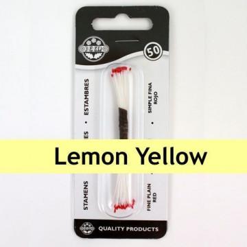 Estambre fino color amarillo limón 50 piezas JEM