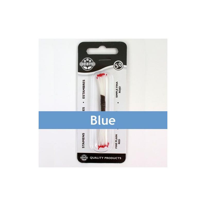 Estambre finos color azul 50 piezas JEM