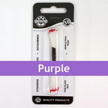 Estambre finos color violeta 50 piezas JEM