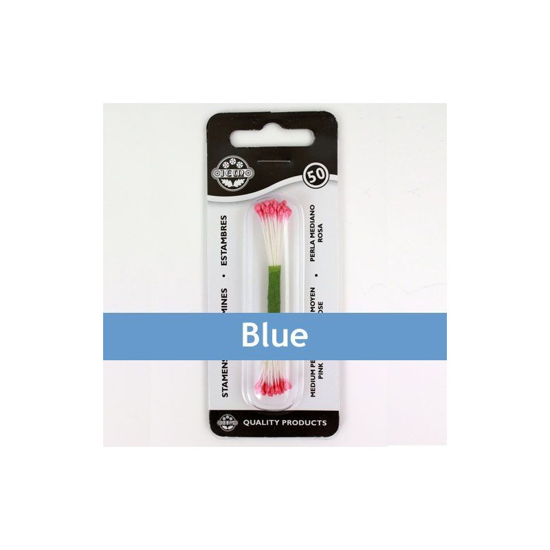 Estambre grande color azul 50 piezas JEM