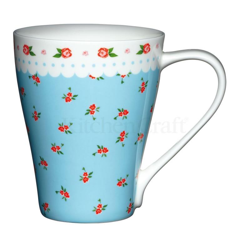 Tazón con asa Blue Disty Floral Kitchen Craft
