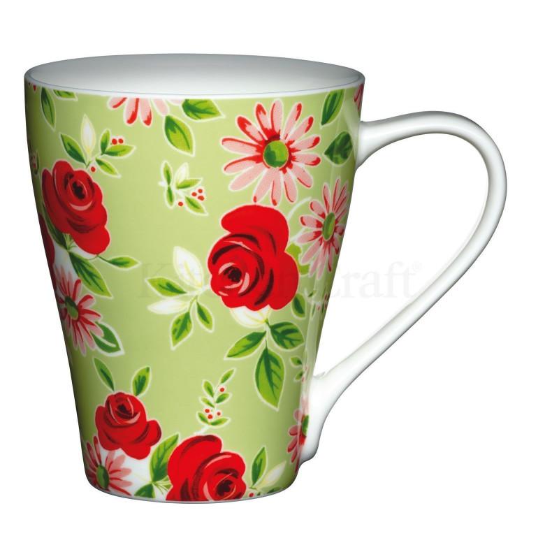 Tazón con asa Green Floral Kitchen Craft