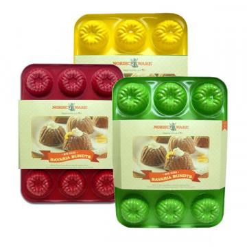 Molde mini bizcochos 12 cavidades Bavaria Brownie Color Amarillo Nordic Ware
