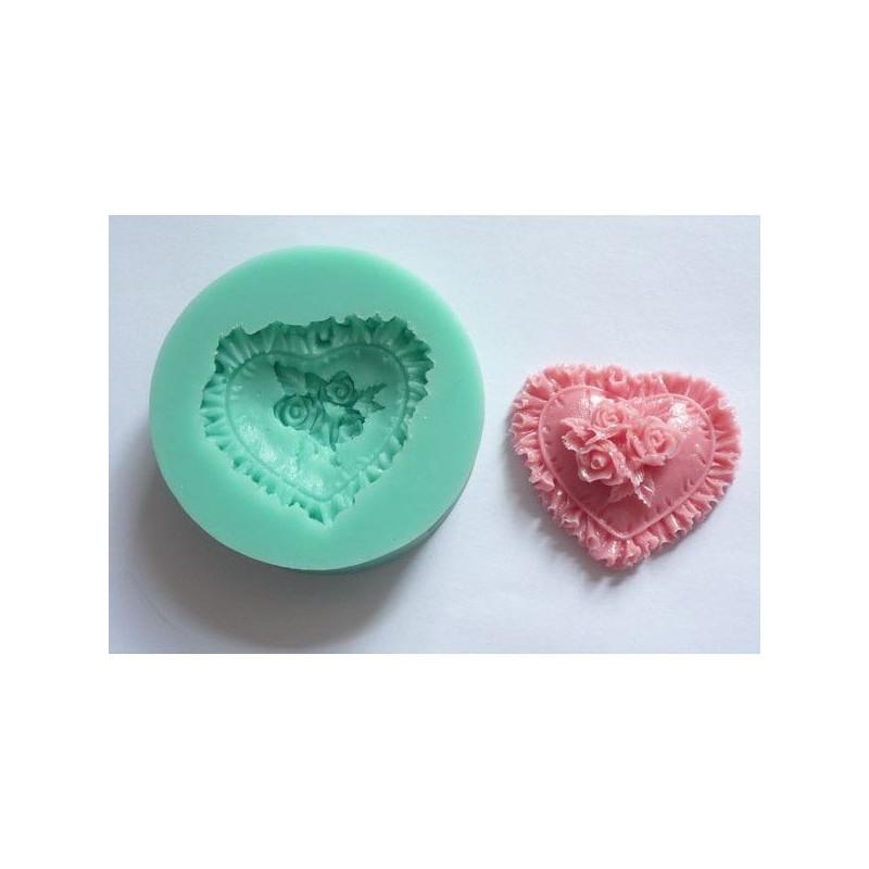 Molde silicona Corazón Relieve