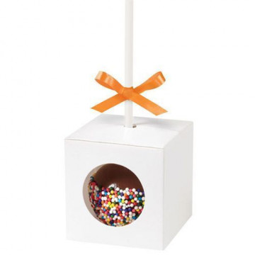 Cajitas presentación cakepops blancas, pack 12 unidades Wilton