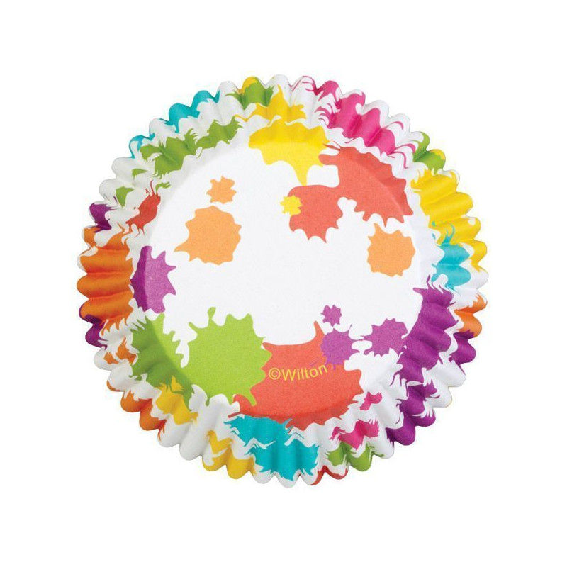 Cápsulas cupcakes antigrasa Manchas de Arcoiris Wilton