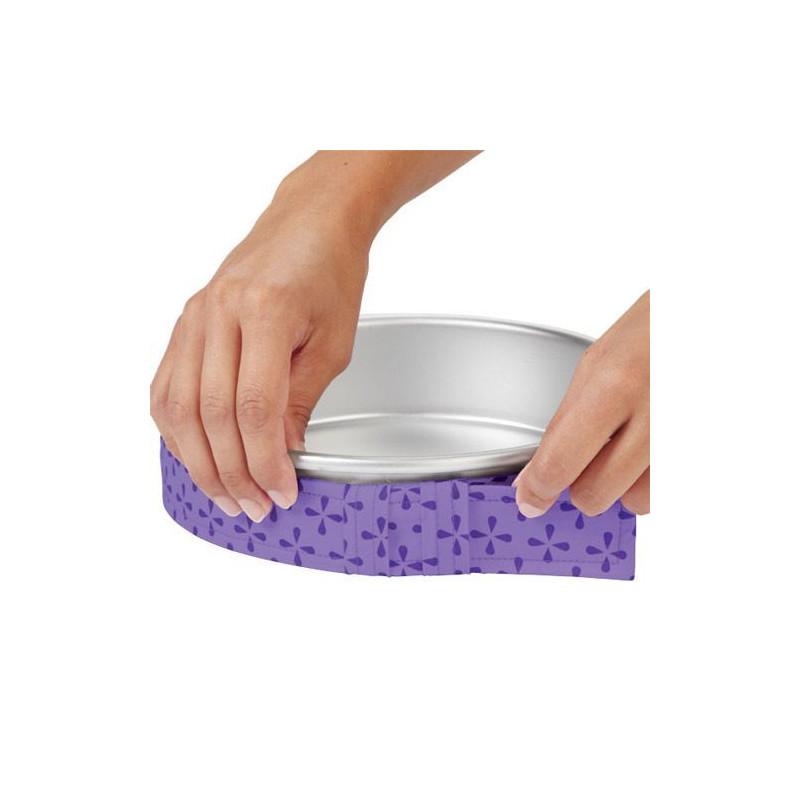 Bandas para el horneado color lila, pack 6 Wilton