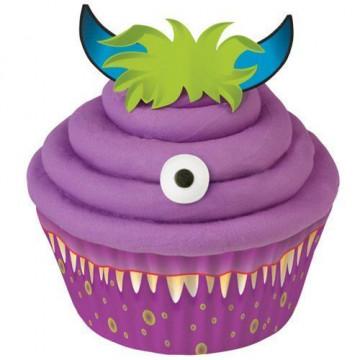 Set decoración para cupcakes: Monstruo Wilton