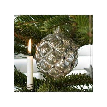 Bola decorativa Navidad Antique Silver Green Gate