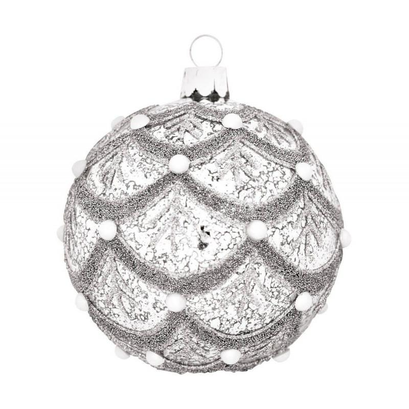 Bola decorativa Navidad Pearls and Glimmer Green Gate