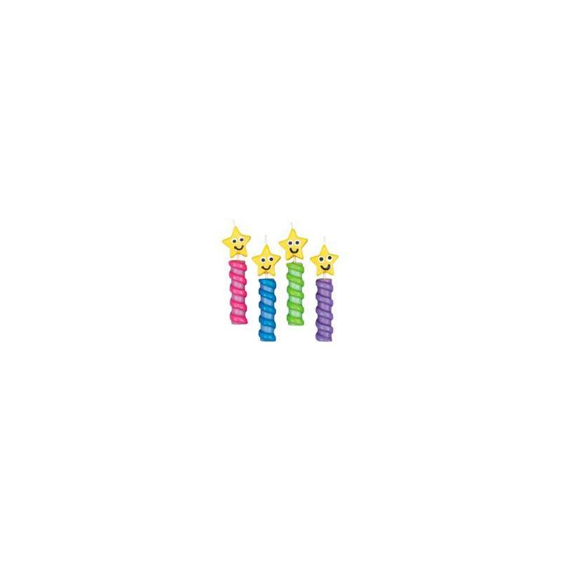 Pack de 4 velas estrella