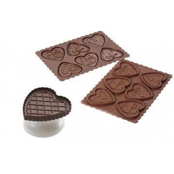 Sello/Estampación Cookie Choc Heart + Libro SLK