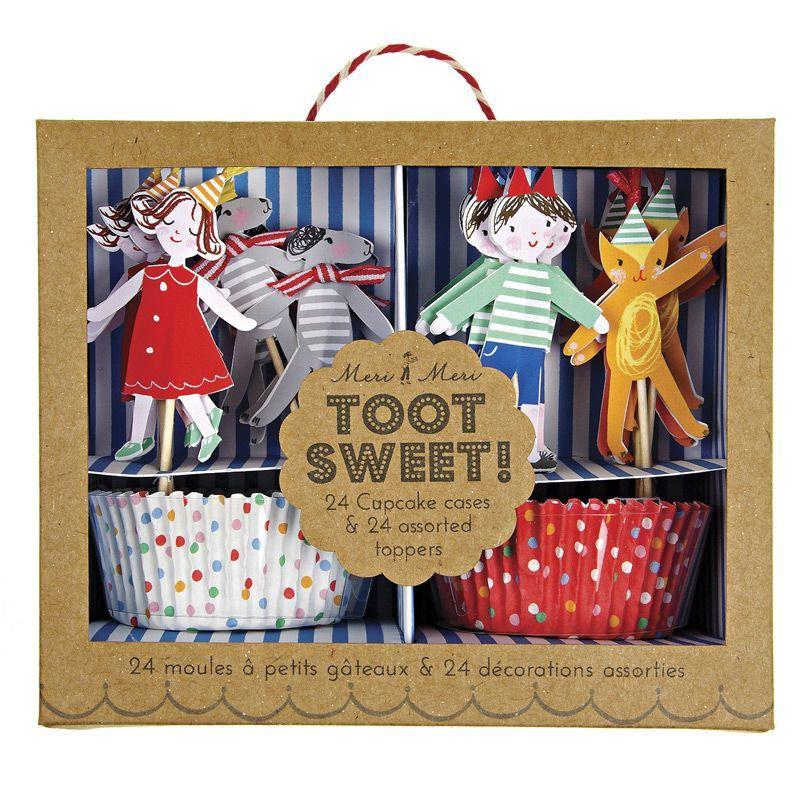Set cupcakes + toppers colección Toot Sweet Child Meri Meri