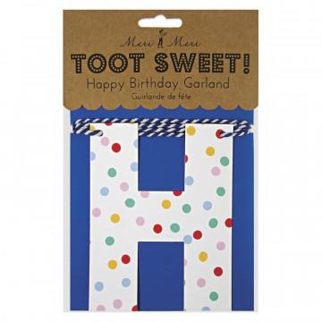 Guirnalda Cumpleaños Letras Toot Sweet Meri Meri