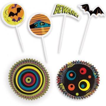 Set para cupcakes: Halloween 3D Wilton