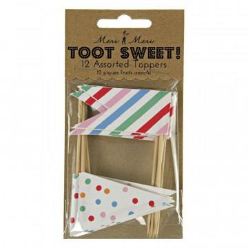 Pack de 12 toppers colección Toot Sweet Banderillas Meri Meri