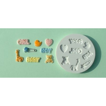 Molde silicona Motivos Baby Alphabet Mould