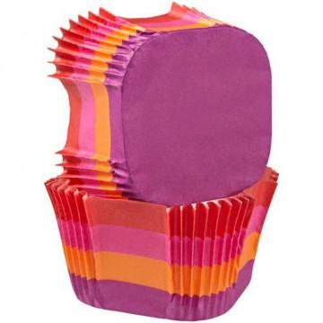 Capsulas cupcakes cuadrado Franjas Calidas Wilton