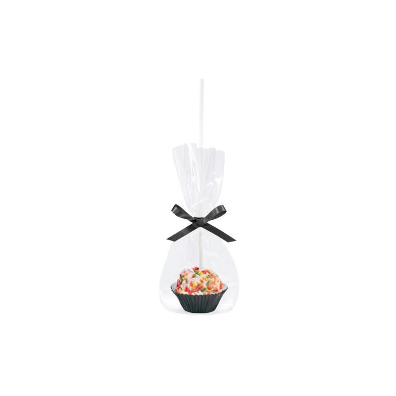 Kit decoración: Bolsas, Capsulas y Lazo Negro Cakepops Wilton