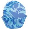 Capsulas mini cupcakes Camuflaje Azul Wilton