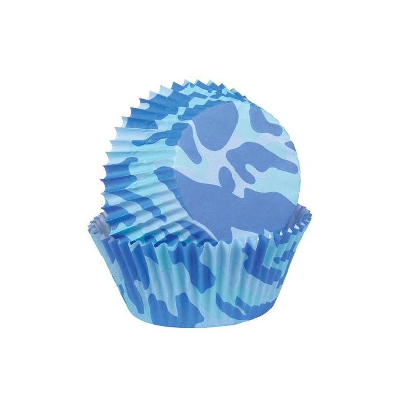 Capsulas cupcakes Camuflaje Azul Wilton