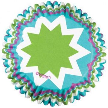 Cápsulas cupcakes antigrasa Chevron Cool Wilton