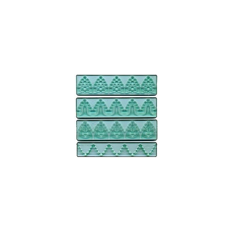 Cenefa marcadora borde verde