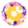 Cápsulas cupcakes retro floral Wilton