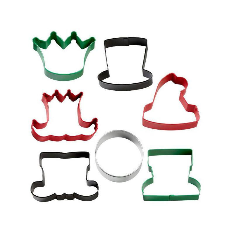 Cortante pack 7 cortantes Caracteres de Navidad Wilton
