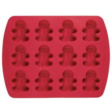 Molde silicona 12 cavidades Gingerbread Wilton
