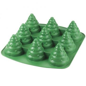 Molde silicona 6 cavidades Árbol Navidad 3D Wilton