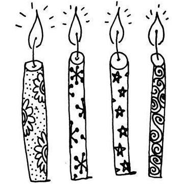 Sello de Madera Velas Cumpleaños
