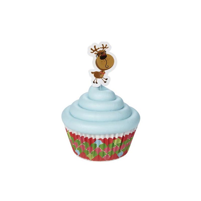 Set decoración para cupcakes: Reno Nuevo Wilton
