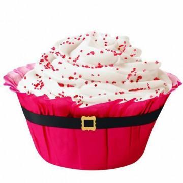 Cápsulas muffins Cinturón de Santa Navidad Wilton