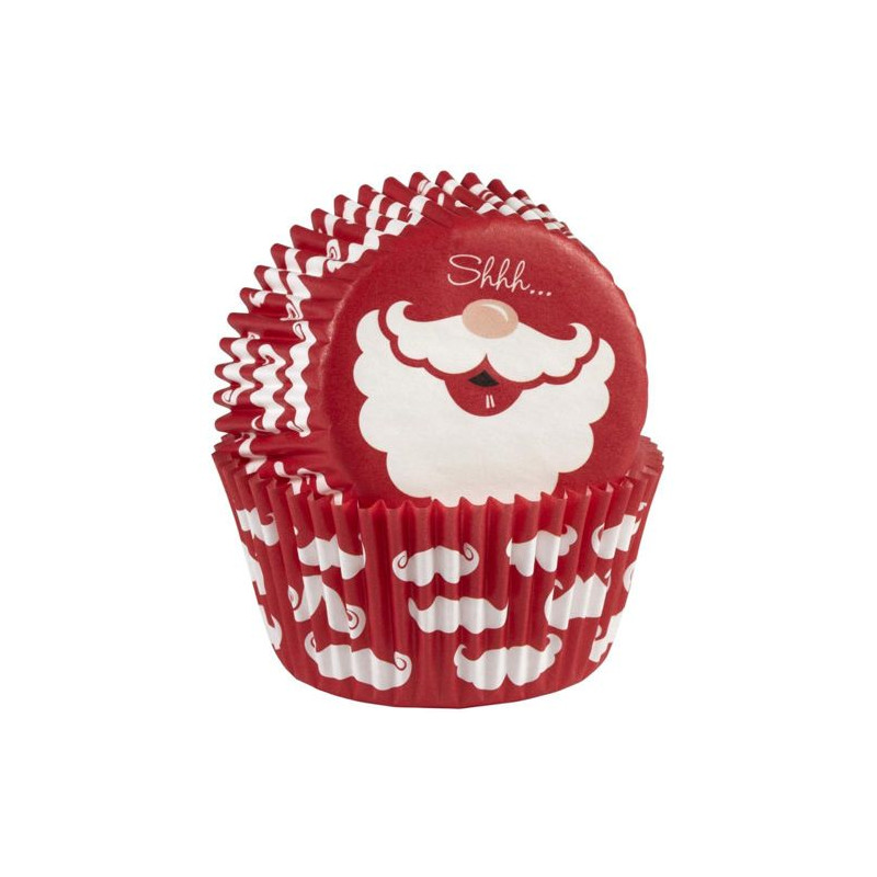 Capsulas cupcakes Santa Claus Wilton
