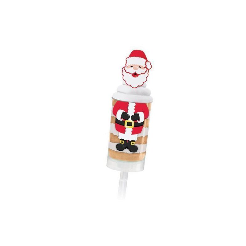 Etiquetas+Toppers adhesivas 12 unidades Push up Santa Navidad Wilton