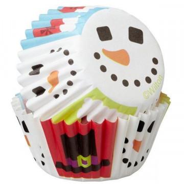 Cápsulas mini cupcakes Alegre y Dulce Navidad  Wilton